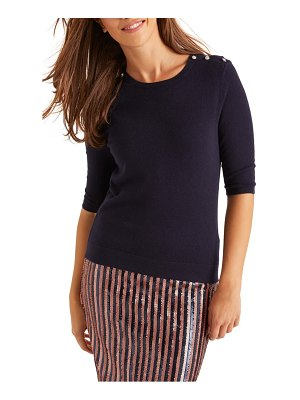 BODEN betty button shoulder sweater