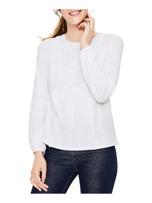 BODEN cleo jersey & eyelet top