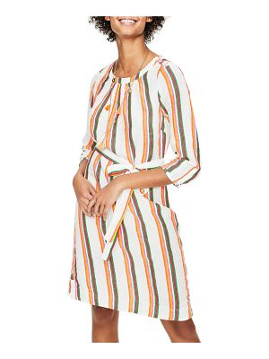 BODEN katie striped peasant dress