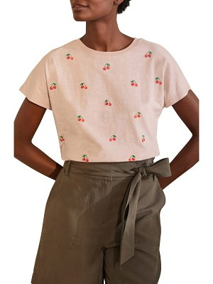 BODEN lena embroidered t-shirt