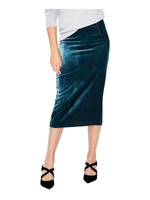 BODEN lorna velvet pencil skirt