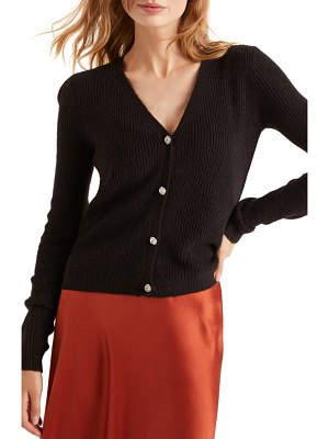BODEN maggie jeweled button ribbed cardigan