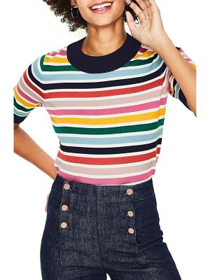 BODEN multicolor knit tee