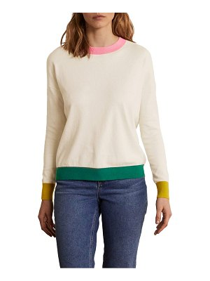 BODEN relaxed cotton & wool sweater