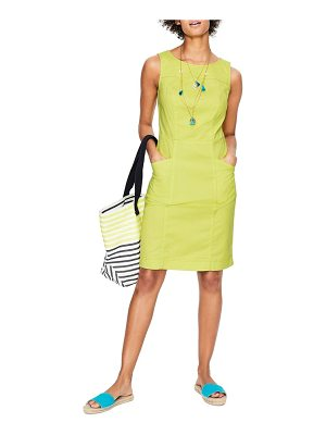 BODEN tamara stretch cotton sleeveless dress