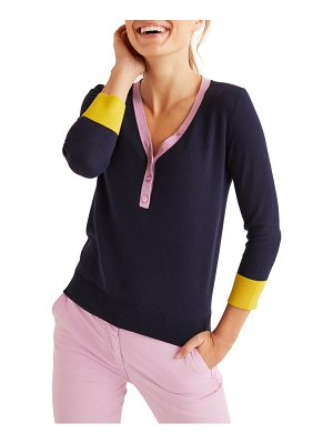 BODEN wiltshire colorblock v-neck sweater