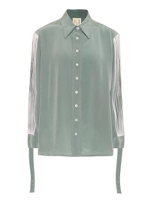 Bodice Studio pleated silk shirt