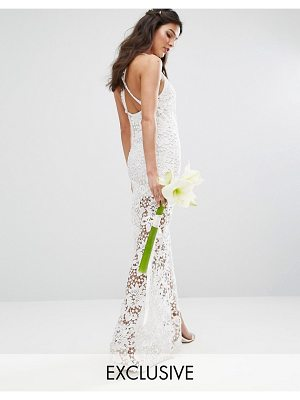 Body Frock Bodyfrock Bridal Crochet Maxi Dress with Cross Back