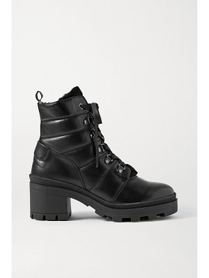 Bogner belgrade leather and shearling ankle boots