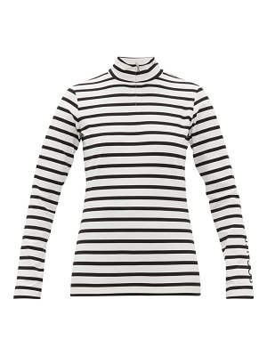Bogner beline striped jersey half-zip top
