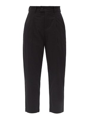 Bogner cory high-rise pleated cotton-blend golf trousers