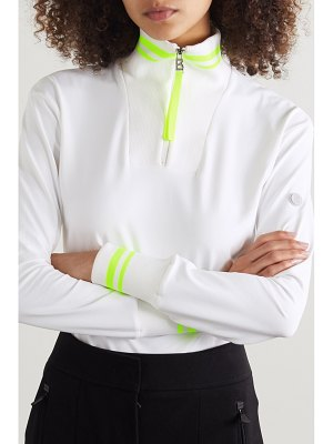 Bogner dimitra striped stretch-jersey turtleneck top