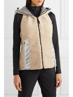 BOGNER FIRE+ICE bogner fireice - peggy reversible hooded faux shearling and quilted metallic shell vest