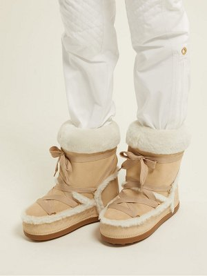 Bogner New Tignes Suede And Shearling Boots
