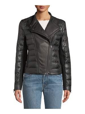 Bogner Woman Amy Down-Filled Puffer Moto Jacket