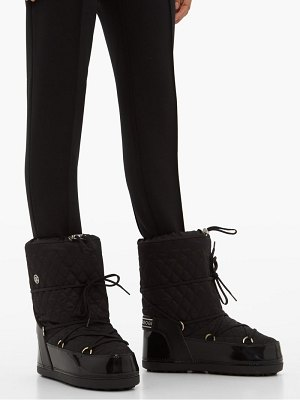 Bogner tignes quilted lace up snow boots