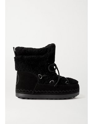 Bogner trois vallées 15a suede and shearling snow boots