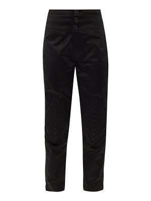 BOLT X Edie quilted-knee high-rise cotton trousers