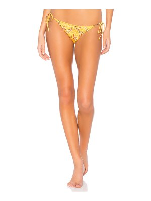 Bond Eye Rose Shirred Satin Tie Side Bikini Bottom