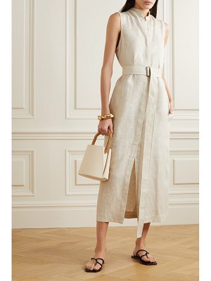 Bondi Born belted linen midi dress