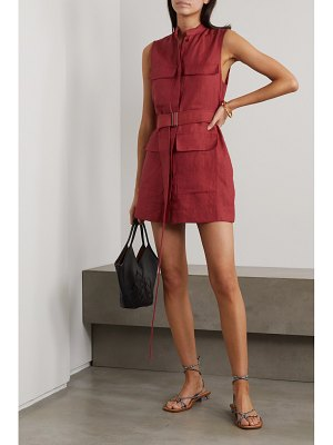 Bondi Born belted linen mini dress