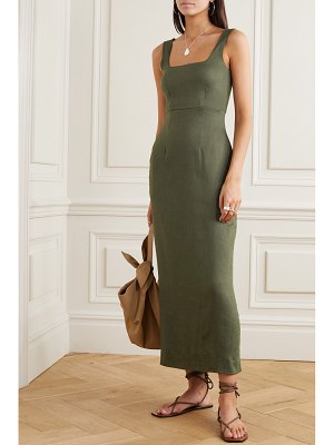 Bondi Born linen-blend maxi dress