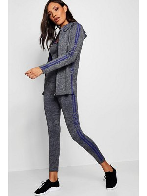 Boohoo 3 Piece Sports Running Set - Jacket/Vest/Leggings