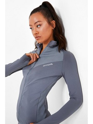 Boohoo Active Ribbed Funnel Neck Jacket