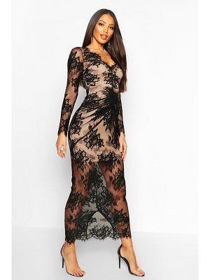 Boohoo All Over Lace Maxi Dress