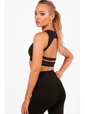 Boohoo Amber Fit Medium Support Strappy Back Sports Crop