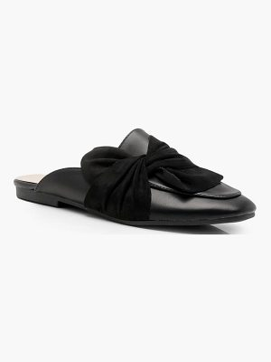 Boohoo Amber Wrap Front Mule Loafers