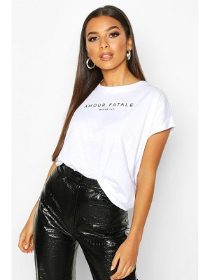 Boohoo Amour Fatale French Slogan T-Shirt