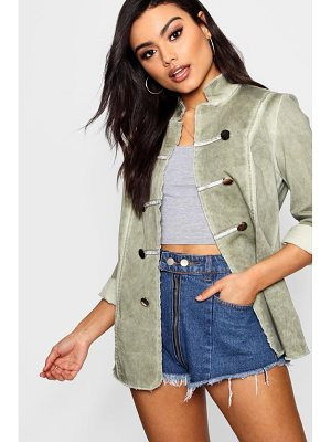 Boohoo Amy Vintage Wash Military Jacket