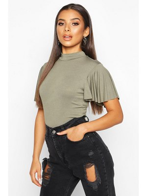 Boohoo Angel Sleeve High Neck Top