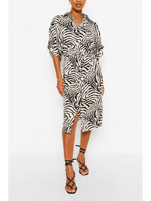Boohoo Animal Print Bodycon Midi Dress