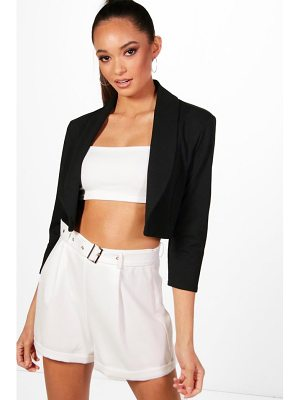 Boohoo Collared Crop Blazer