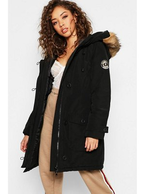 Boohoo Arctic Padded Jacket with Faux Fur Trim