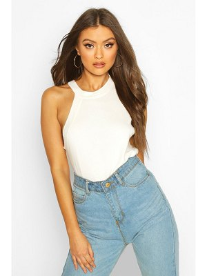 Boohoo Asymmetric Neck Knitted Top