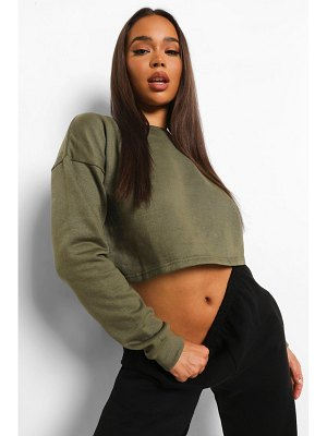 Boohoo Basic Crop Sweatshirt