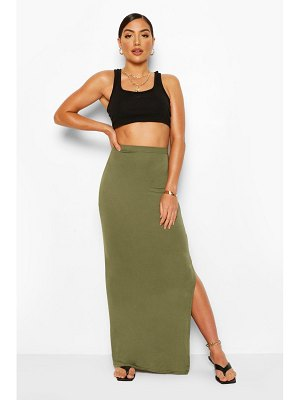 Boohoo Basic Jersey Side Split Maxi Skirt