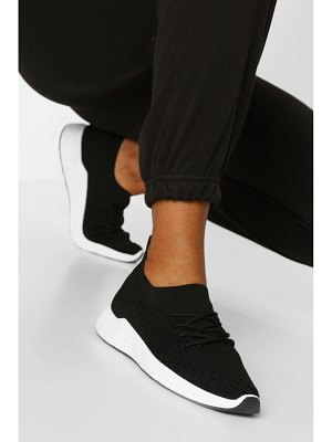 Boohoo Basic Knitted Sports Sneakers