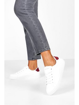 Boohoo Basic Lace Up Flat Sneakers