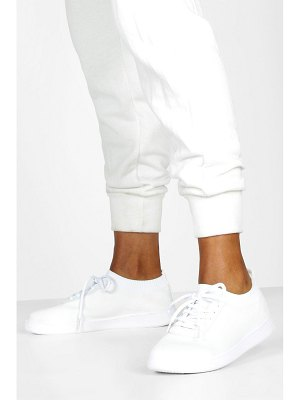 Boohoo Basic Lace Up Knitted Sneakers