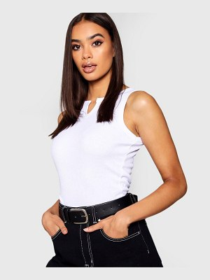 Boohoo Basic Notch Ribbed tank