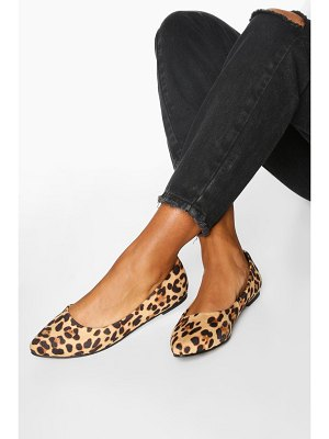 Boohoo Basic Pointed Leopard Ballets