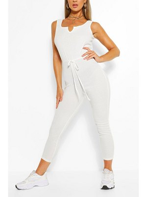 Boohoo Basic Ribbed Strappy Unitard