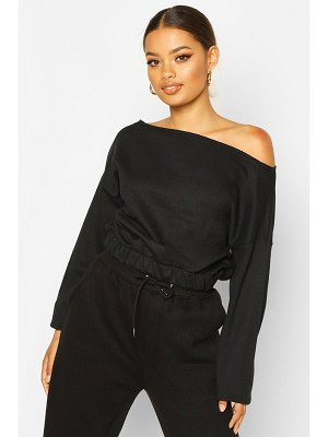 Boohoo Basic Slash Neck Drop Shoulder Sweat