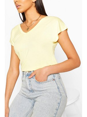 Boohoo Basic V Neck Key Hole Detail T-Shirt