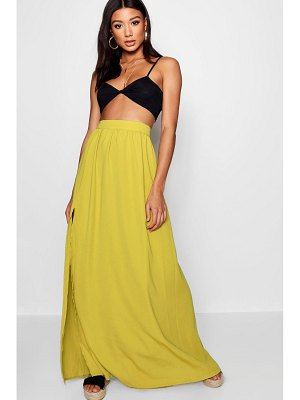 Boohoo Basic Woven Floor Sweeping Maxi Skirt
