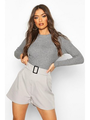 Boohoo Belted Buckle Shorts